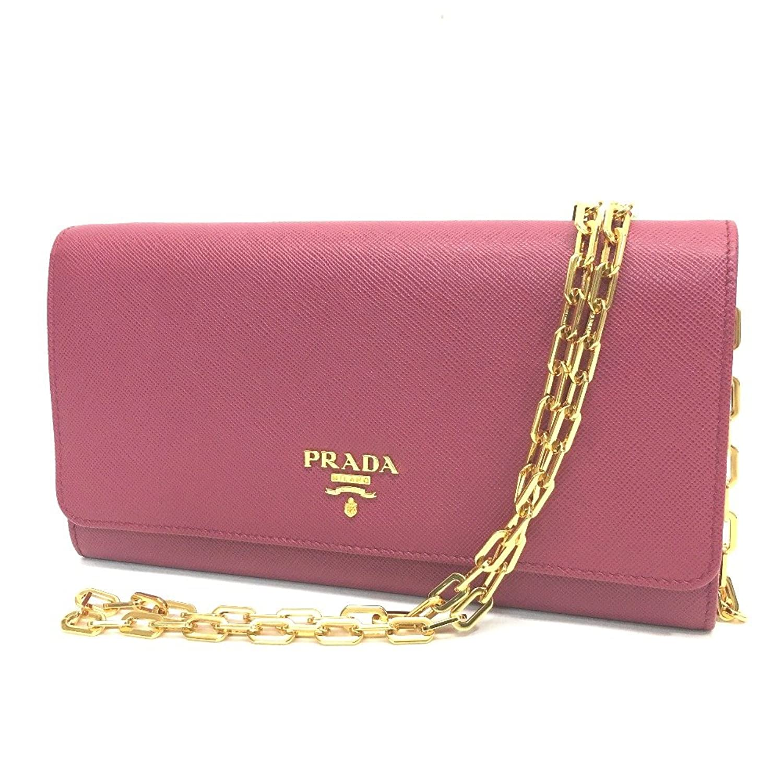 (プラダ) PRADA 1M1440 財布バッグ チェーンウォレット 二つ折り財布(小銭入れなし) サフィアーノレザー レディース 未使用 中古 B07DW6DXPT