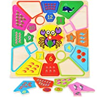 Jack Royal Numerical Wooden Board with Colorful Puzzles