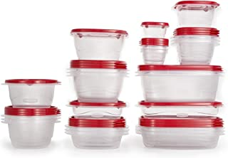 product image for Rubbermaid TakeAlongs Food Storage Containers, 52 Pieces, Ruby Red
