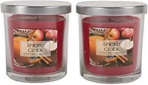 Home Traditions Single Wick Evenly Burning Highly Scented Jar Candle, Set of 2 (8 Oz Each) - Spiced Cider