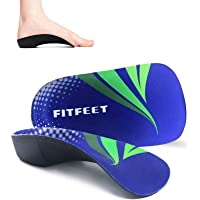 RooRuns Orthotic Insoles, FITFEET 3/4 High Arch Support Shoe Inserts Insoles for Flat Feet, Plantar Fasciitis, Foot Arch…
