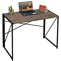 Writing Computer Desk Modern Simple Study Desk Industrial Style Folding Laptop Table Home Office Brown Notebook Desk