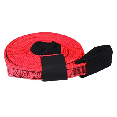 "Tow & Recovery Strap 1""x15' 7,000 lb (USA!) with Hook & Loop Storage Fastener: Industrial & Scientific"
