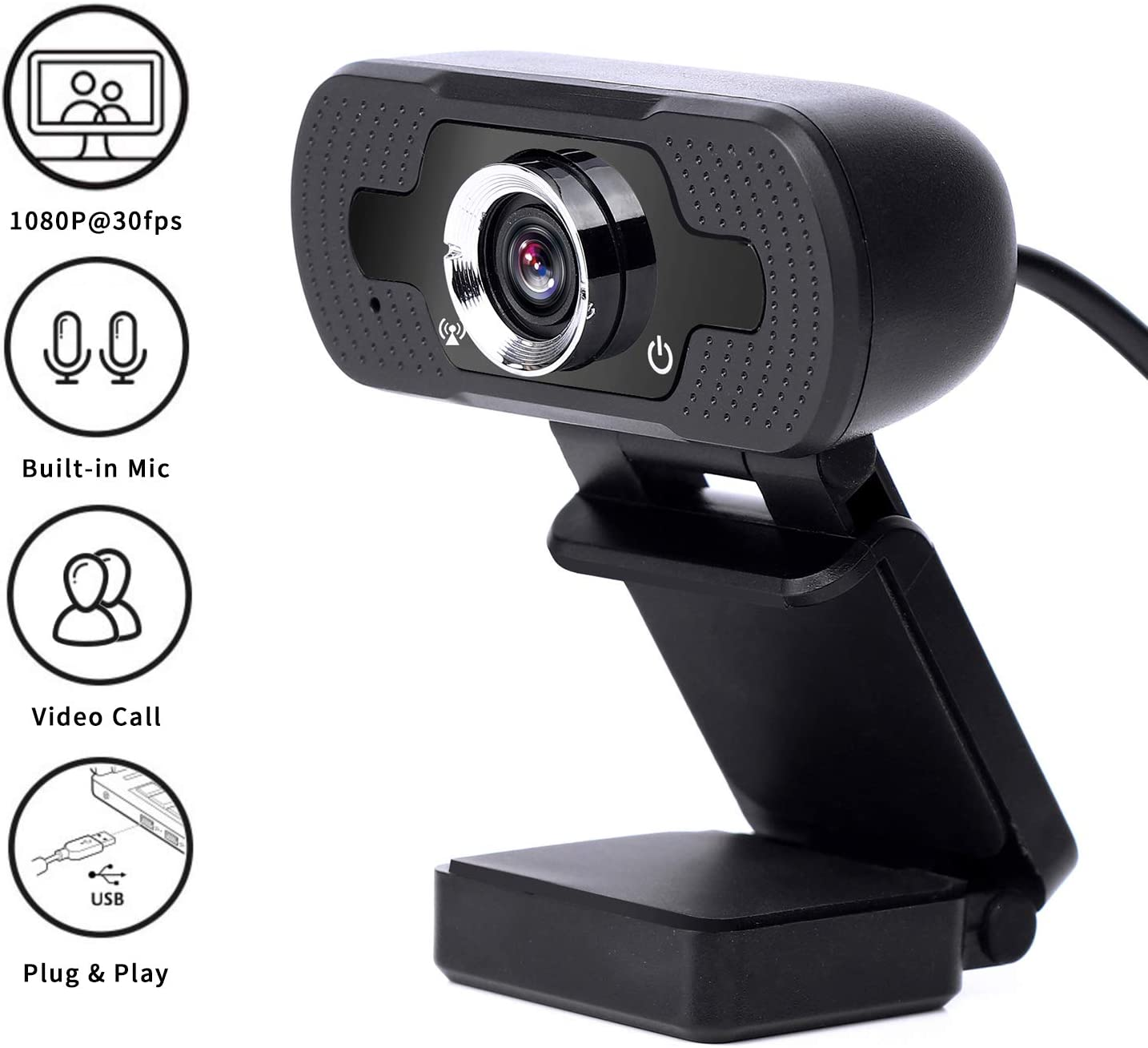 Webcam with Microphone,1080P HD Web cam,Streaming Computer Web Camera,USB Camera for PC Laptop Desktop Mac Video Calling, Recording,Conference