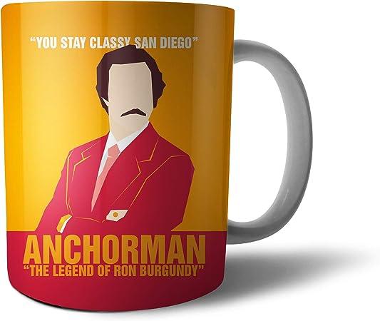 Anchorman The Legend of Ron - Taza de té y café, 10 oz ...