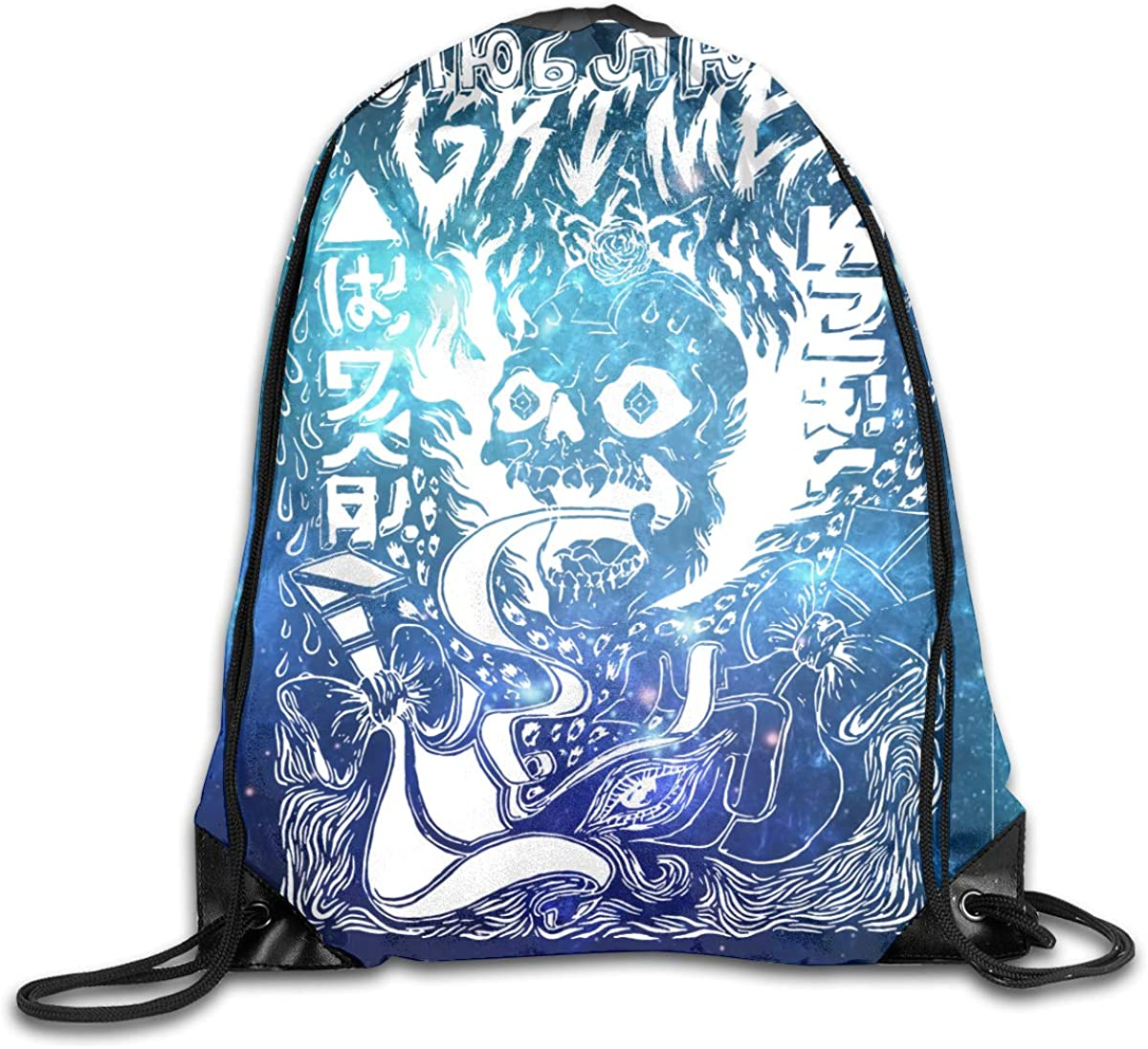 CAOI UUC Grimes Visions Gym Drawstring Backpack Cinch Sack