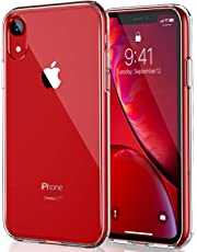 CASEKOO iPhone XR Case, Crystal Clear Protective Hybrid Hard PC Back & Flexible TPU Bumper [Anti-Yellowing] Transparent Case Cover for 6.1 inch iPhone XR – Crystal Clear