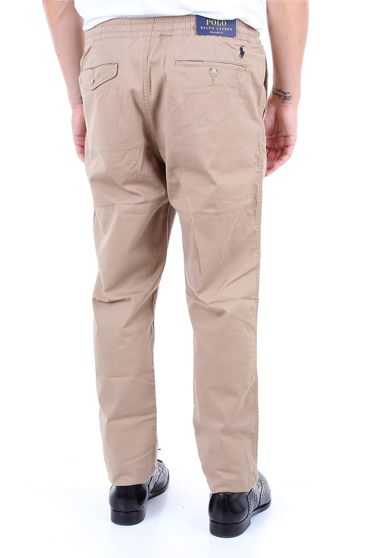 Pantalon Ralph Lauren Tapered Prepster Beige Hombre: Amazon.es ...