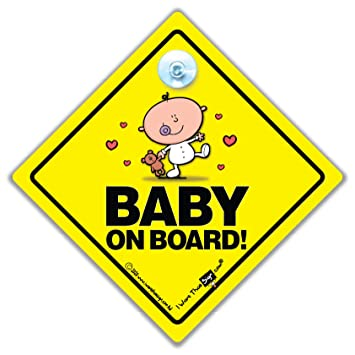 Baby On Board Sign Car Baby On Board Zeichen Unisex Baby On Board Schild Unisex Baby
