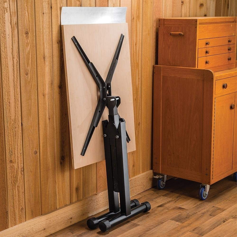 Rockler Heavy-Duty Fliptop Roller Stand with Outfeed Table Kit