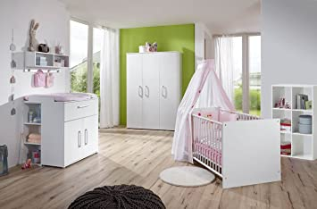 Lifestyle4living Babyzimmer Komplett Set Fur Jungen Madchen Weiss