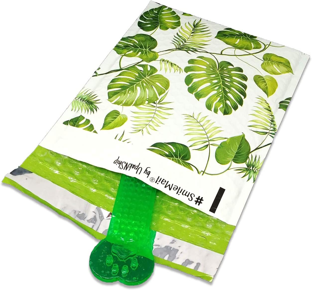 6.5 x 9 Usable Space 10 Self Sealing Padded Envelope Mailers, Cushioned Peel /& Seal Mail Bags W//Kissy Stickers Poly Bubble Mailers 6x10 Tropical Banana Leaves
