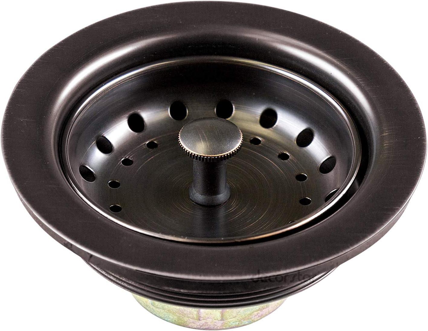 Stainless Steel Oil Rubbed Bronze Decor Star KD-001-O 3 1//2 Drop-In Kitchen//Bar Sink Basket Strainer