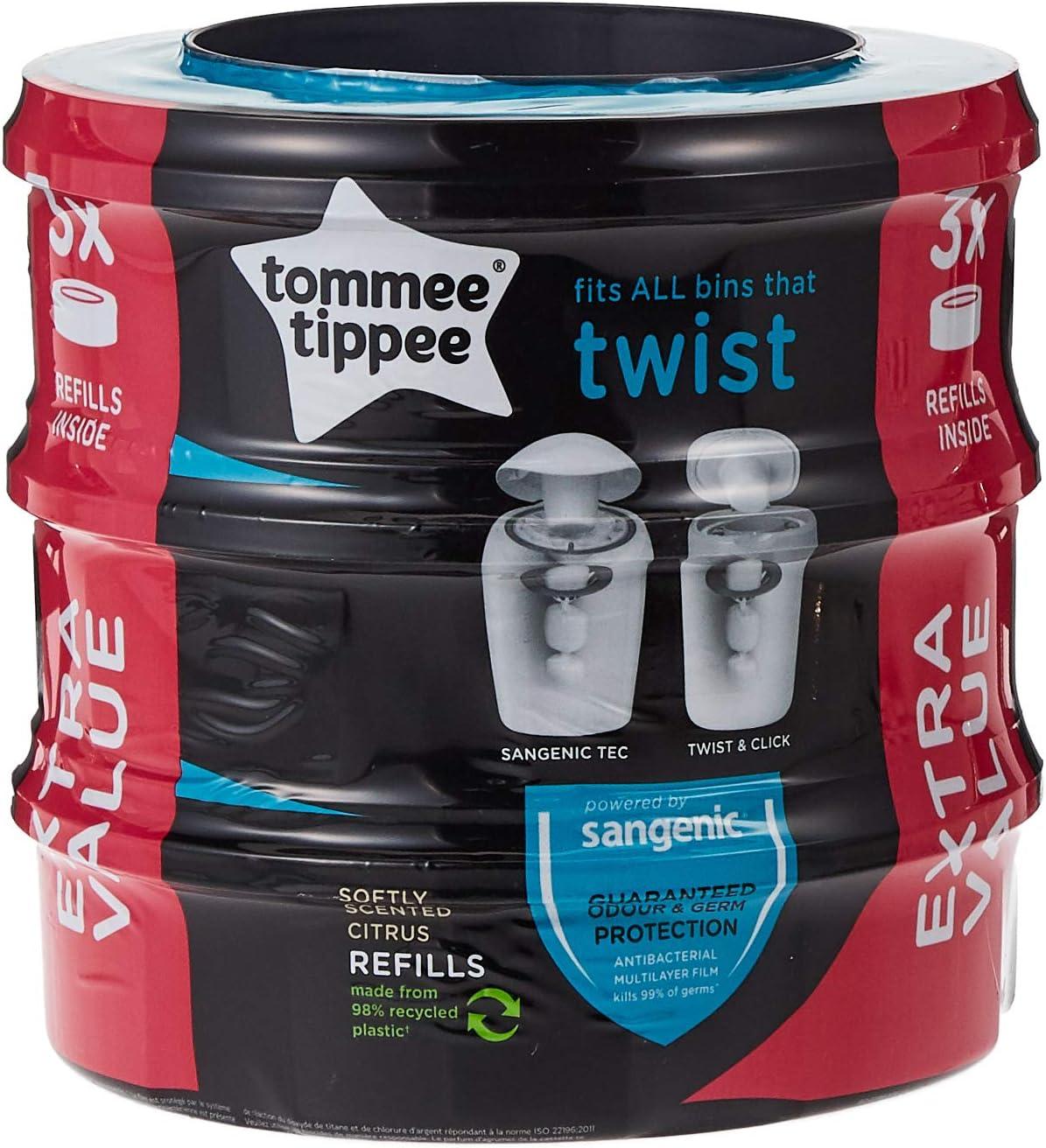Respectueux de lenvironnement Greenland Lot de 6 recharges pour poubelle /à couches Tommee Tippee Twist /& Click et Sangenic Tec