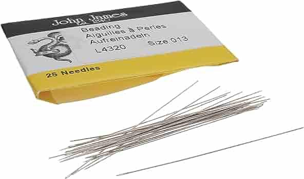 TH1055 Beading Needles 1package:25Pcs Pearl Needles Size 12 Beading Supplies 45.11x0.44mm Beading Needles Findings