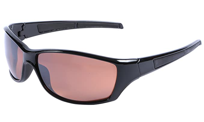 1ae6e964399 Mens Driving Sunglasses Black Wraparound UV400 Protection Blue Light  Blocking Lens + Hard Case   Cloth