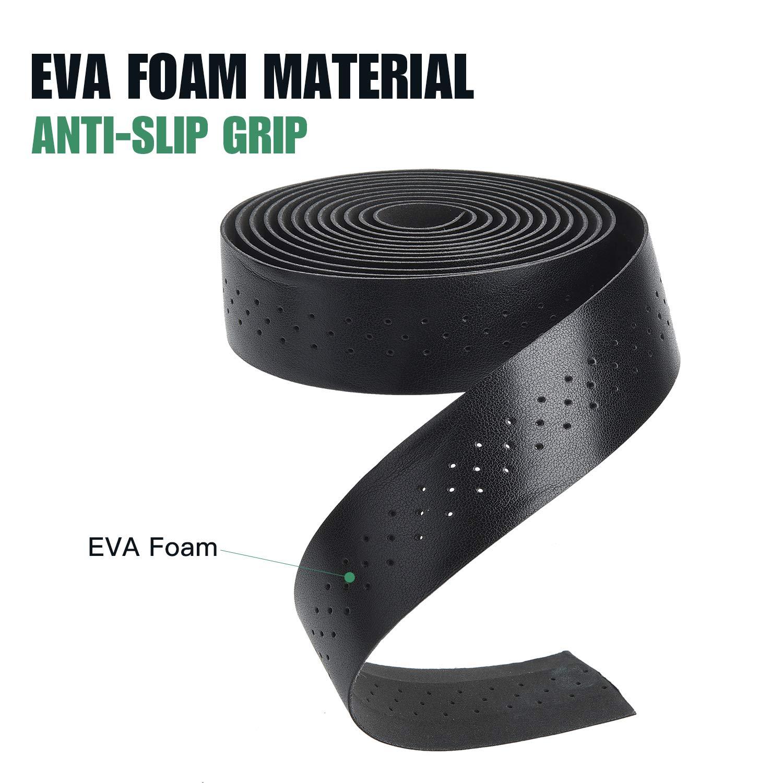 Ruban guidon//cintre Classic grip noir guidoline VELOX epaisseur 3mm cuir