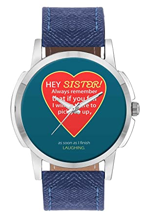 Buy Wrist Watch For Men - Hey Sister | I will always be There For