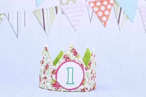 Pittitus corona de tela para cumpleaños bebés y niñas ...