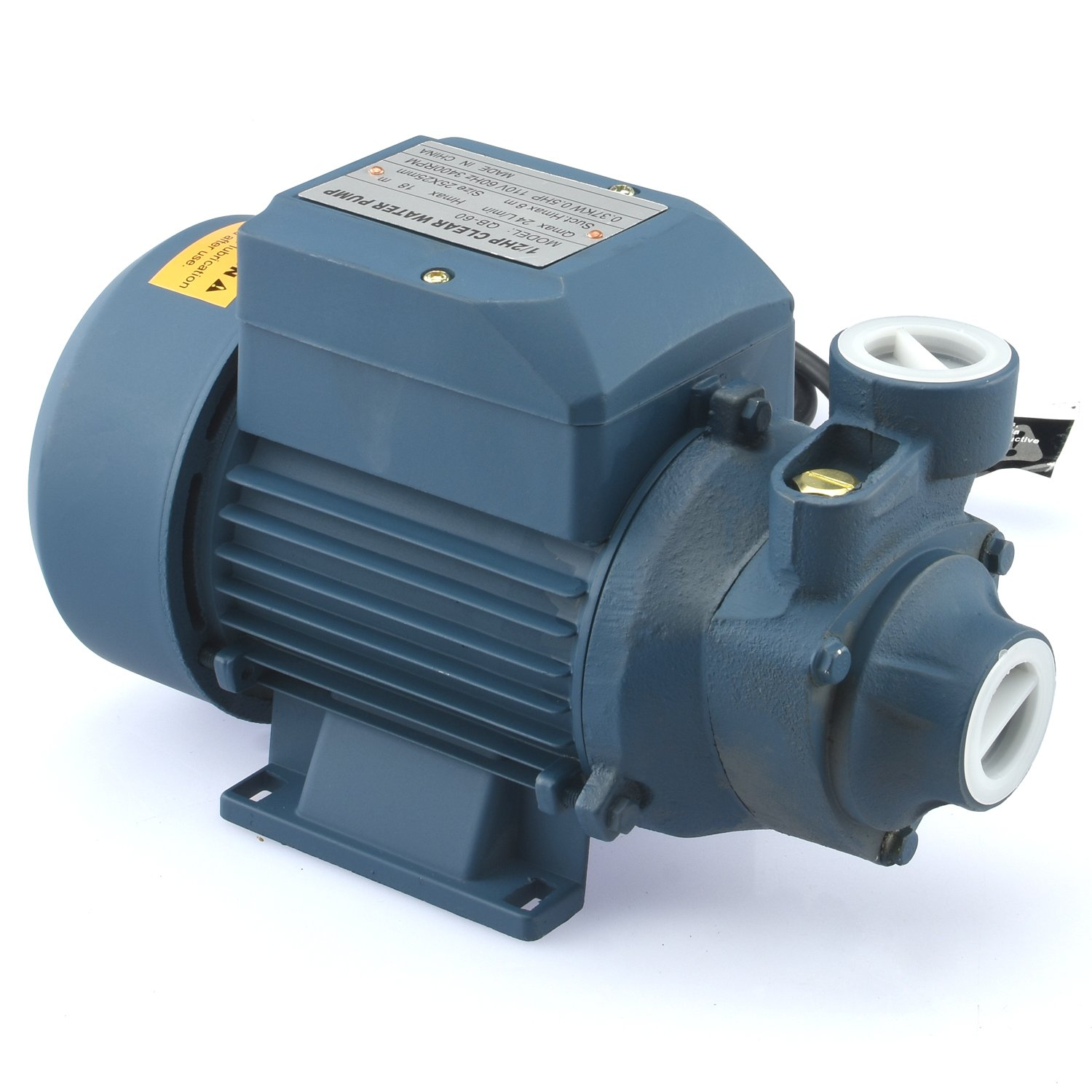 Tooluxe 50635 Electric Centrifugal Clear Water Pump, 0.5 HP | Pools, Ponds, Irrigation, Garden, Sprinkling | 380 GPH by Tooluxe (Image #1)