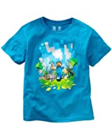 Minecraft Boys Adventure Youth T-Shirt, Turquoise