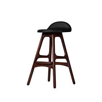 Luxury Dark Wood Counter Stools