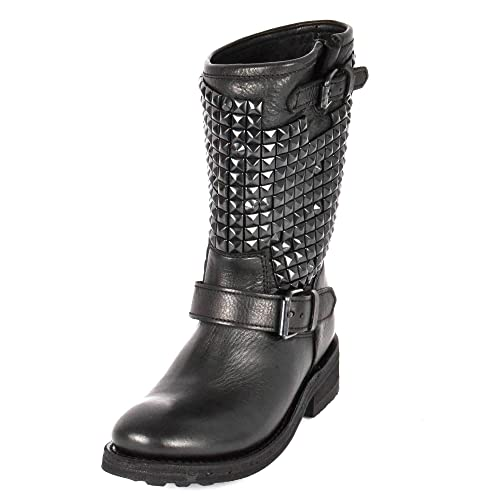 00c8366f6e Ash Footwear Trash Stivali di Pelle con Borchie - Donna 36 Nero ...