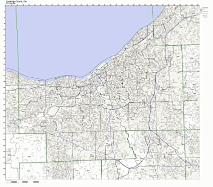 Ohio Zip Code Map Laminated