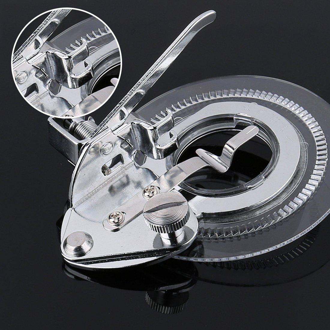 Flor de acero inoxidable de punto de prensatelas para Stitcher partes redondo pie prensatelas: Amazon.es: Bricolaje y herramientas