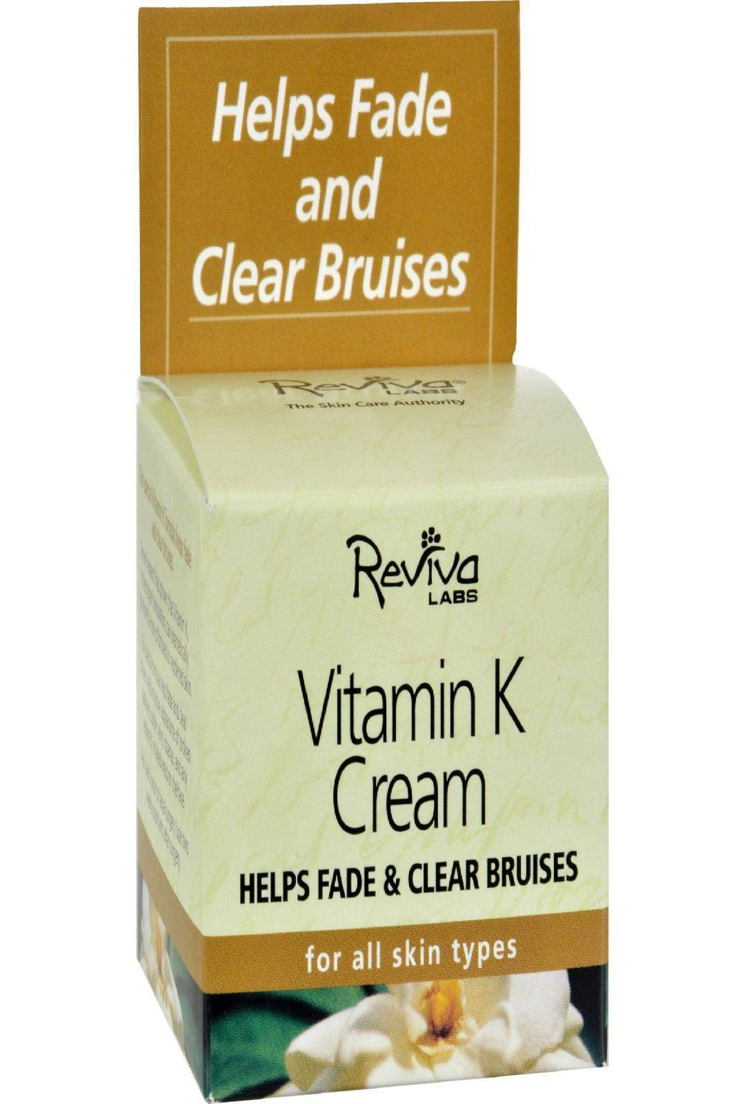 Reviva Labs Vitamin K Cream, For All Skin Types, 2-Ounce, Packaging May Vary