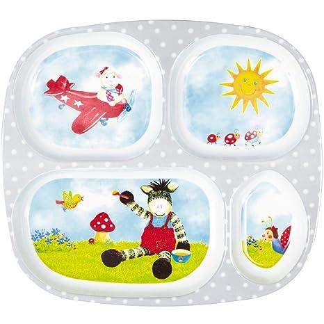 Bandeja de Comida para niños con cubiertos de la Buena Suerte con Animales. Serie Babyglück