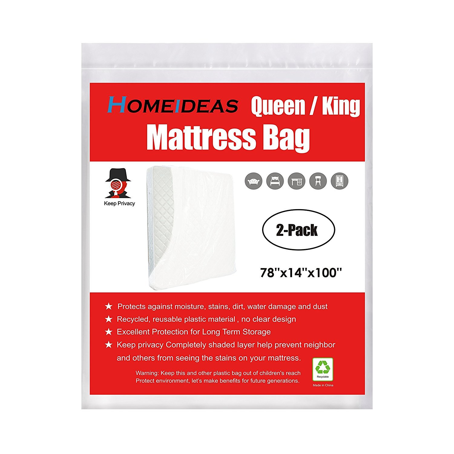 3 Mil Thick Mattress Bag Moving Storage Not Clear Mattress
