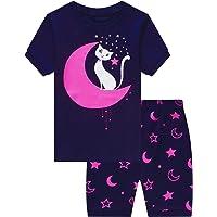 MIXIDON Niña Pijamas Unicornio Infantil Verano Ropa Chica Manga Corta