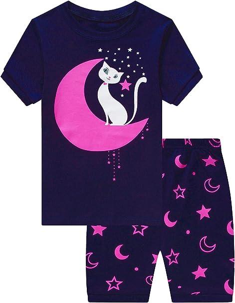 MIXIDON Niña Pijamas Unicornio Infantil Verano Ropa Chica Manga ...