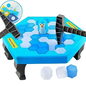 Meliya Balance Cubitos de hielo rescate pingüino rompecabezas mesa ...