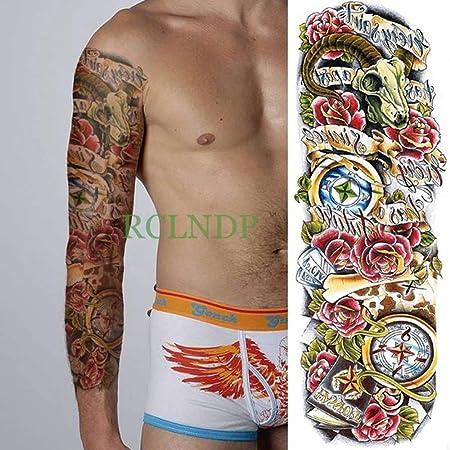 3pcs Impermeable Etiqueta engomada del Tatuaje de la Flor de Rose ...