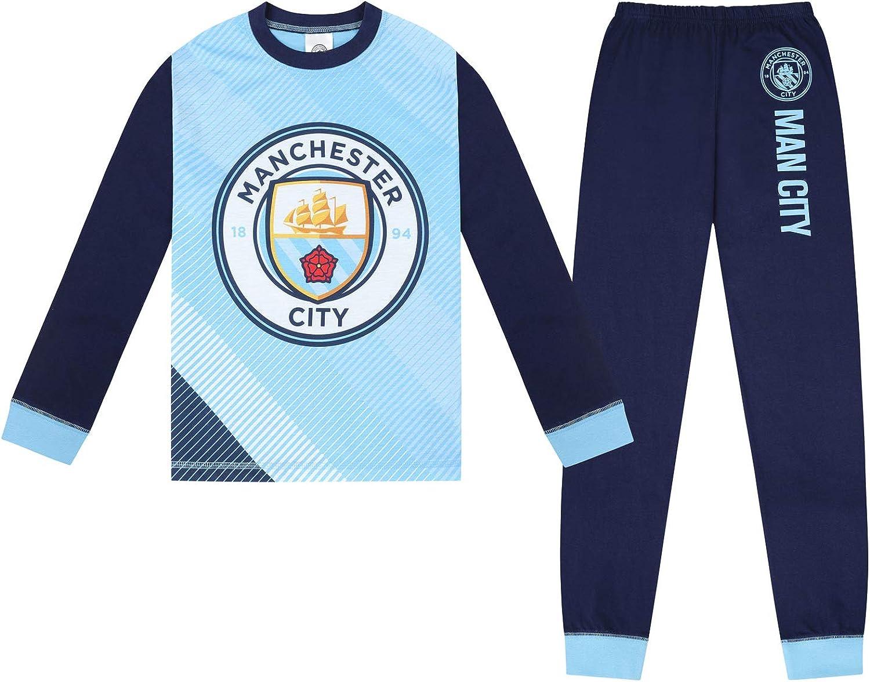 Manchester City FC - Pijama Largo Serigrafiado para niño - Producto Oficial