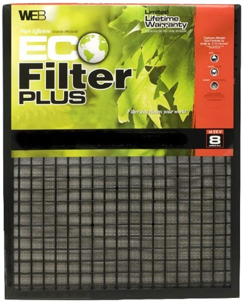 Renewed WEB Eco Filter Plus 14x25x1 Air and Furnace Filter