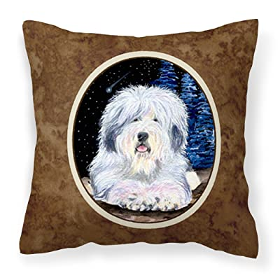 Caroline's Treasures SS8443PW1414 Starry Night Old English Sheepdog Decorative Canvas Fabric Pillow, 14Hx14W, Multicolor : Garden & Outdoor