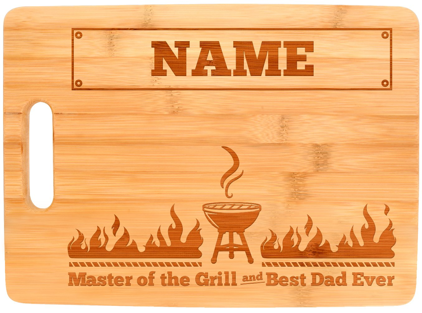 Personalized Grill Gifts Custom Name Master of the Grill and Best Dad Ever Personalized Fathers Day Gifts from Daughter Father Son Gifts Dad Grill Big Rectangle Bamboo Personalized Cutting Board by Personalized Gifts (Image #4)