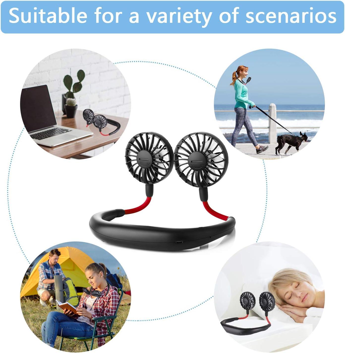 Portable Fan for Office//Outdoors//Household ZoeeTree USB Fan Neck Fan Quiet Desk Fan Travel Small Fan with 4-12Hs Working Time Aromatherapy 3 Speeds Rechargeable