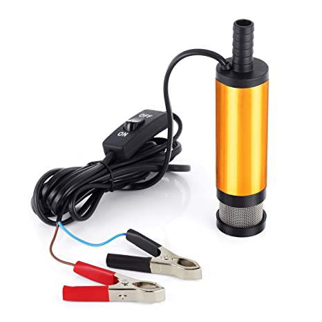 Proster Bomba de Agua Sumergible DE 12 V para retener el Aceite de Combustible, 38