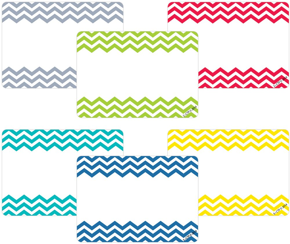 Creative Teaching Press Chevron Solids Labels (4549)