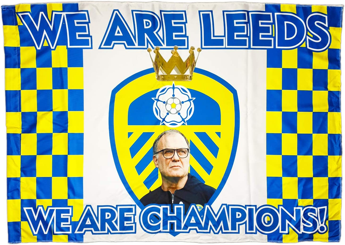 MDEO LEEDS Champions FLAG 2019-2020 Marcelo Bielsa and Stars We Are PREMIER