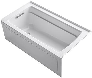 KOHLER K-1123-LA-0 Archer 5-Foot Bath, White - Freestanding ...
