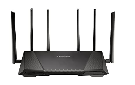 ASUS AC3200 Tri-Band Gigabit WiFi Router, AiProtection Lifetime Security by  Trend Micro, Adaptive QoS, Parental Control (RT-AC3200)