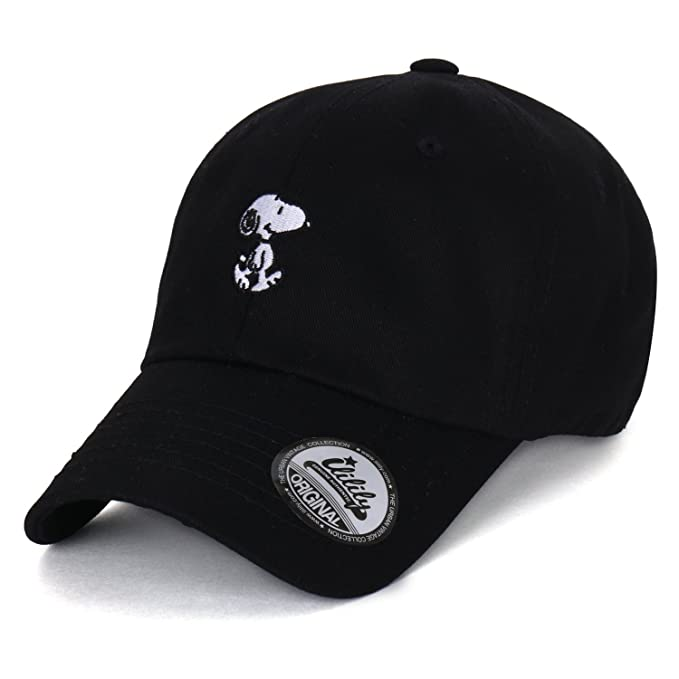 Peanuts Cotton Solid Color Cute Snoopy Embroidery Curved Casual Hat Baseball Cap (ballcap-1330-5) at Amazon Mens Clothing store:
