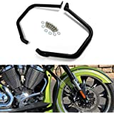Worldmotop-Motorcycle Engine Guard Rear Highway Black Crash Bars fits for Victory Cross Country Tour Cross Road Magnum…
