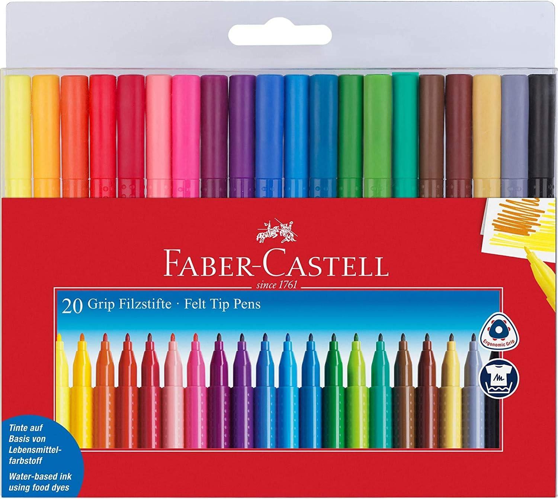 Fasermaler Grip Colour Marker Faber Castell 155310 10 St/ück Etui