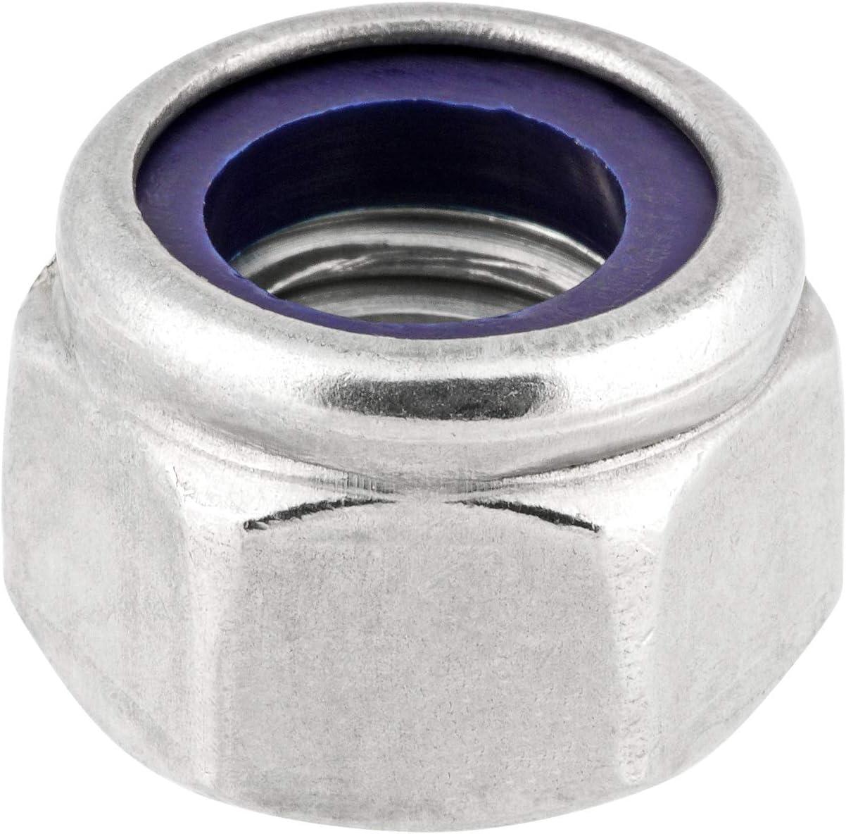 Sicherungsmuttern hohe form M6 DIN 982 ISO 7040 Edelstahlmuttern Stopmuttern Klemmmuttern selbstsichernde Sechskantmuttern M6 10 St/ück